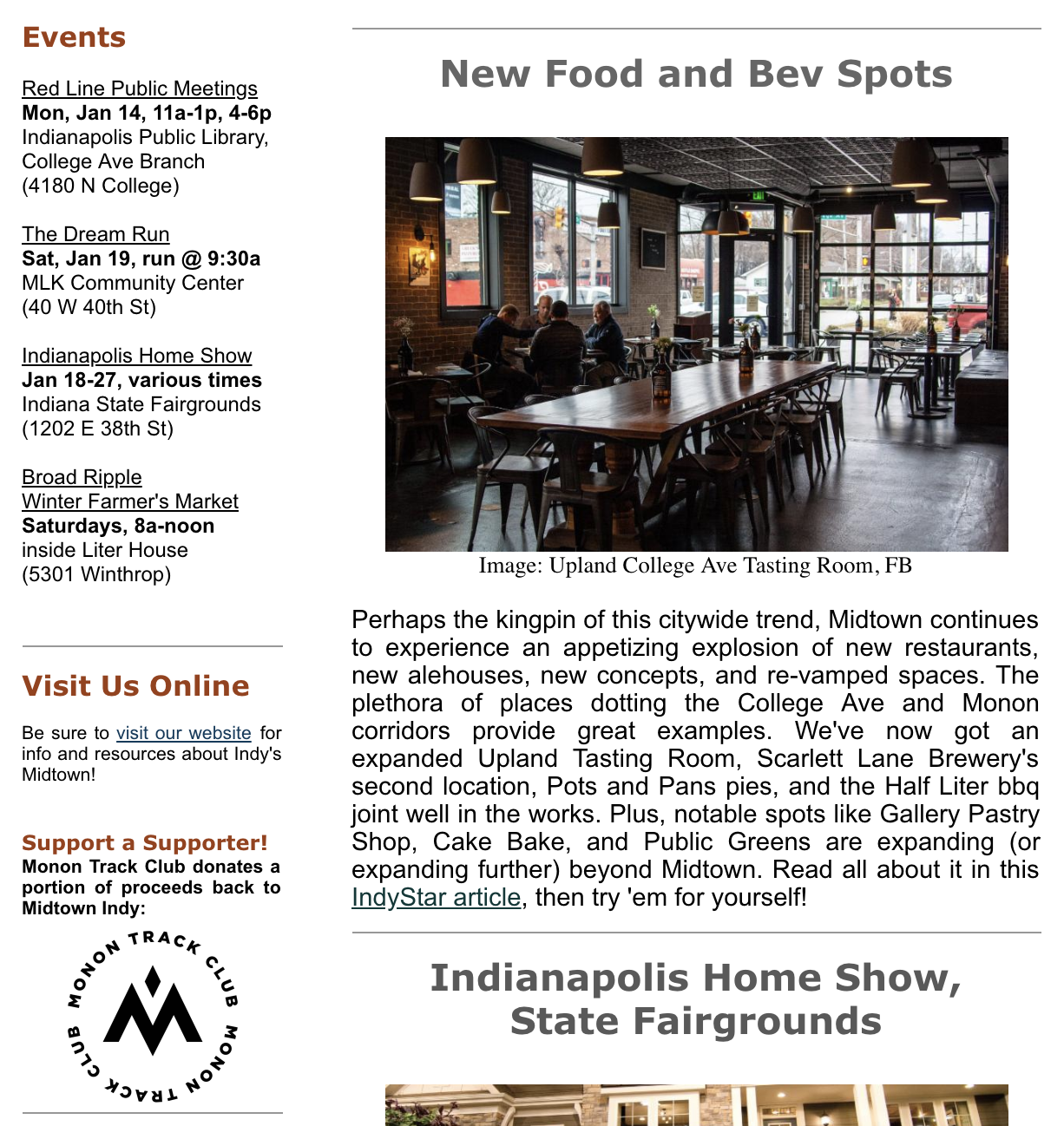 My Midtown News: January 7th – 20th | Midtown Indy